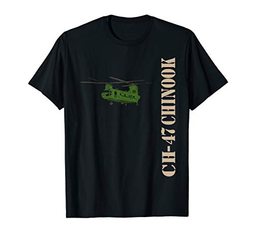 Chinook Helicopter T Shirt 15U MOS CH 47 Army Helicopter