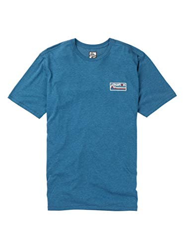 - Burton Men's Gregson Short Sleeve Tee, Blue Sapphire Heather, Medium