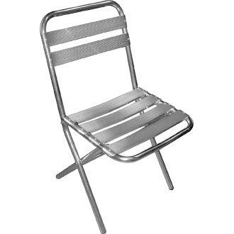 Garden/diseño cilíndrico silla plegable - aluminio - 43Wx57 ...