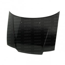 SEIBON 88-91 Civic 3D/CRX Carbon Fiber Hood OEM EF 90 Crx Oem Carbon Fiber Hood