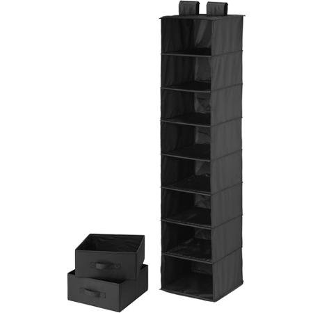 honey-can-do-8-shelf-organizer-with-2-drawers-black-polyester