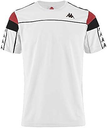 Anual pelo Dentro  Amazon.com: Kappa Mens Authentic 222 Banda Arar Slim T-Shirt White/Red L:  Clothing