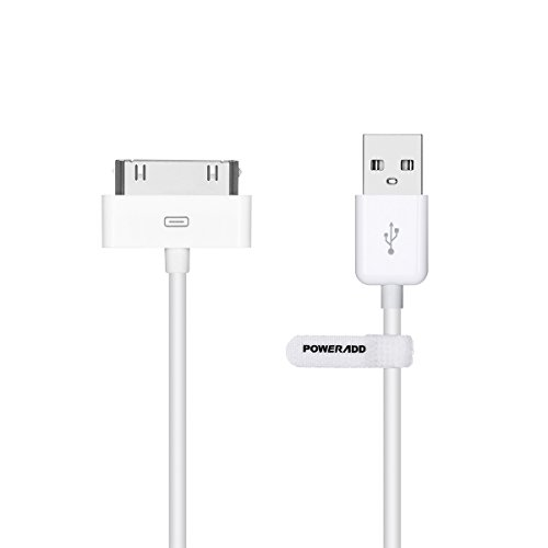 POWERADD Apple Certified iPhone 4 4s 3G 3GS iPad 1 2 3 iPod Touch Nano 30 Pin Charger USB Sync Cable Charging Cord...