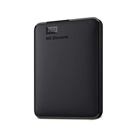 WD 5TB Elements Portable External Hard Drive, USB 3.0, Compatible with PC, Mac, PS4 & Xbox - WDBU6Y0050BBK-WESN