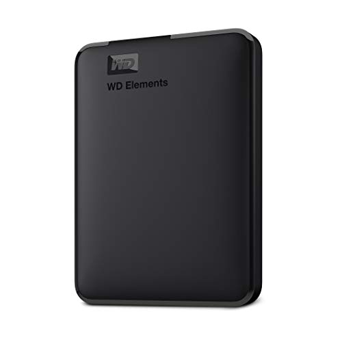 WD Elements – Disco duro externo portátil de 5 TB con USB 3.0, color negro
