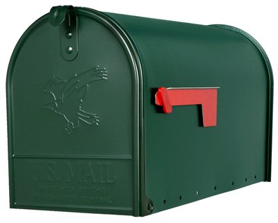 Post Mounted Mailbox Color: Green
