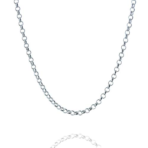 - FashionJunkie4Life Sterling Silver 2.6mm Rolo (Rollo) Chain Necklace 16, 18, 20, 22, 24, 30