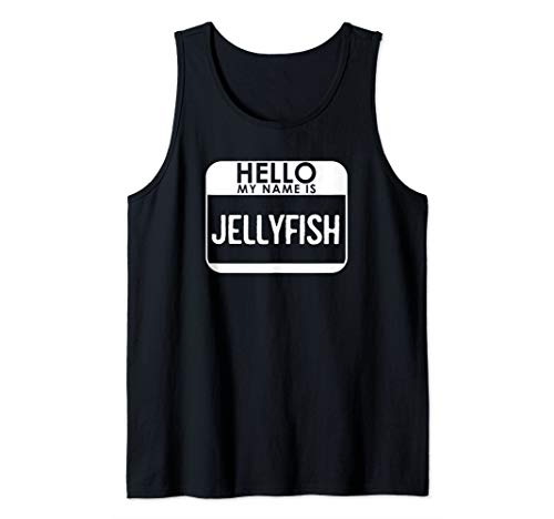 Jellyfish Costume Shirt Funny Easy Halloween Hello My Name Tank Top]()