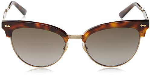 86ee4d75b6 Amazon.com  Gucci GG0055S Sunglasses 002 Havana Gold   Brown Gradient Lens  55 mm  Clothing