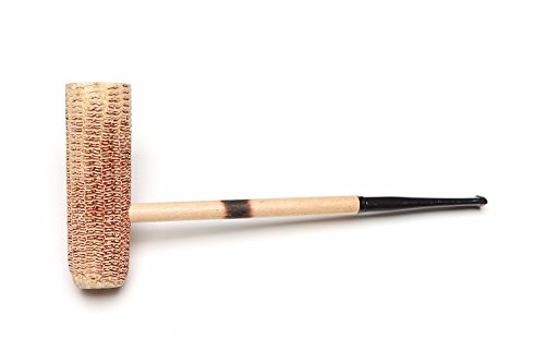 Missouri Meerschaum - MacArthur Classic Corn Cob Tobacco Pipe - Natural, Straight Bit (Best Aromatic Pipe Tobacco For Beginners)