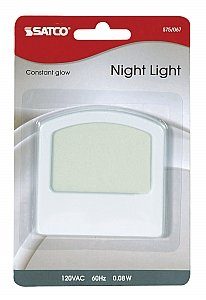 Satco White Classical 0.2W Always On Electro Luminescent Night Light