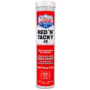 """Lucas Red """"N"""" Tacky Grease 14 oz Pack of 10 Part No: A-10005"""