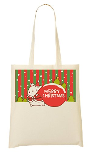 Little Rabbit Says Merry Christmas Bolso De Mano Bolsa De La Compra