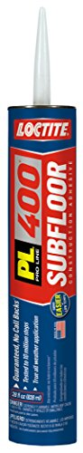 Loctite PL 400 Subfloor and Deck Adhesive, 28 Ounce Cartridge - Nails Subfloor Liquid
