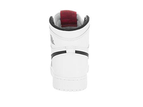 Nike Air Jordan 1 Retro High Og Bg, Zapatillas de Baloncesto para Niños Blanco (Blanco (white/black-white-university red))