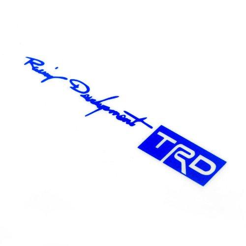Kingzer 4 x Racing Desarrollo TRD Auto Car/Truck Tirador de puerta adhesivo azul: Amazon.es: Coche y moto
