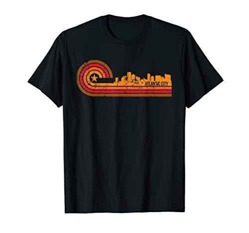Retro Atlantic City Cityscape - Atlantic City NJ Skyline ()