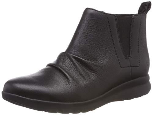 black Clarks Leather Mid Para Adorn Mujer Slouch Un Negro Botas 8Hx8w6zrq
