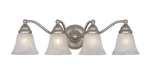 Vaxcel VL35124BN Standford 4 Light Vanity Light, Brushed Nickel Finish by (Standford 4 Light)