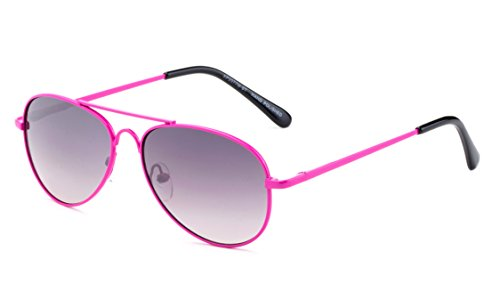 Newbee Fashion Kids Toddler Girls Cute Neon Colorful Aviator Sunglasses Lead Free UV Protection Spring Hinge (Age 1-5) ()