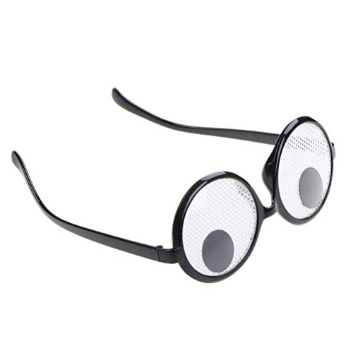Party Favors - 1pcs Funny Favor Googly Eyes Goggles Shaking Glasses Toys Costume And Halloween Decoration - Glasses Eyes Goggle -