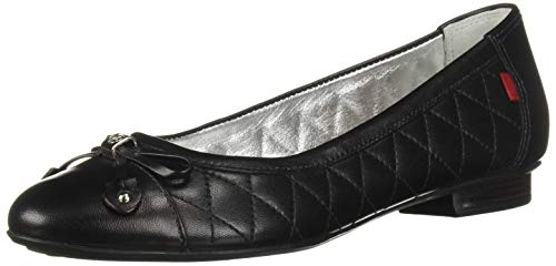 Ballet Flat Quilted Womens Shoe - MARC JOSEPH NEW YORK Womens Leather Made in Brazil Pearl Street Flat Ballet, Black Quilted Nappa, 6.5 B(M) US