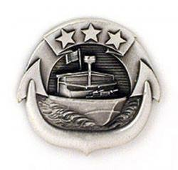 Enlisted Badge - Navy Small Craft Enlisted Badge Oxidized Finish - Regulation
