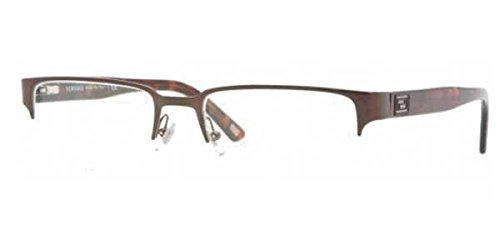 Versace Men's VE1184 Eyeglasses Brushed Brown - Eyeglasses Mens Versace