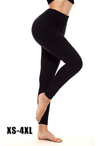 Yoga Pants for Women Plus Size Tummy Control Lift The Hip XS-4XL Black Compression Leggings