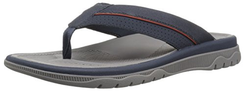 CLARKS Mens Balta Sun Flip-Flop Navy Synthetic