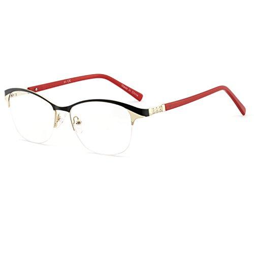 Eyewear Frames-OCCI CHIARI-Fashion Metal Gold Optical Non-Prescription Eyeglasses For Women (A ()
