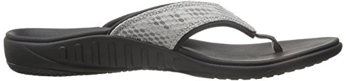 Black Breeze Spenco Sandal Women's Slide Silver ZFcI5Hwxq5