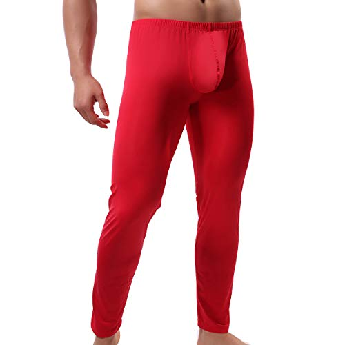 QiaTi Men's Tight Long Underwear Sexy Long Pants Sexy Tight Underwear Soft Compression Underwear for Men Long Leggings Pants (X-Large(fits Like US Large)