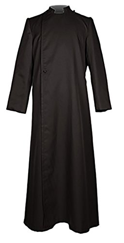 Ivyrobes Unisex Adults Pulpit(Clergy) Cassock Large Black 51 by Ivyrobes