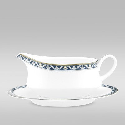 Noritake Pearl Majesty 2-Piece Gravy Boat with Saucer, 13-Ounce