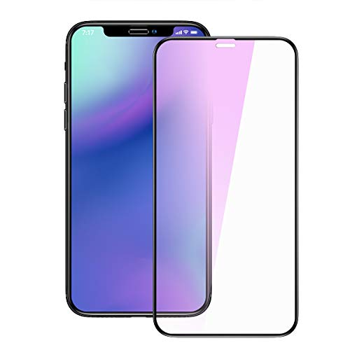 非行聖歌怪物iPhone X/iPhone XS ガラスフィルム ブルーライトカット 液晶保護ガラスフィルム 全面保護 硬度9H 高透過率 指紋防止 気泡レス iPhone X/iPhone XS 用 全面フルカバー