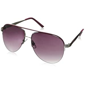 XOXO Women's Director Iridium Aviator Sunglasses,Silver,14 mm