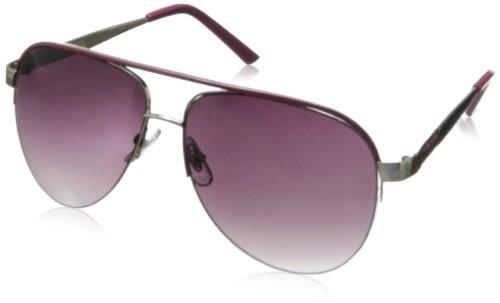 XOXO Women's Director Iridium Aviator Sunglasses,Silver,14 - Sunglasses Xoxo