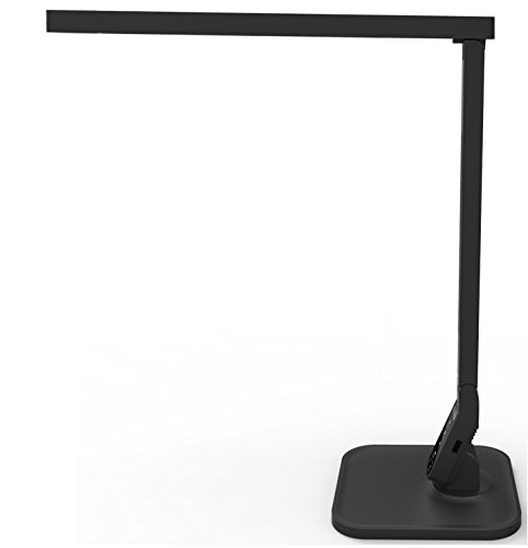 LED Desk Lamp, Lemontec LED Table Lamp Eye-caring LED Lamp (12W, Dimmable, Touch Control, 5 Color Modes, USB Charging Port)