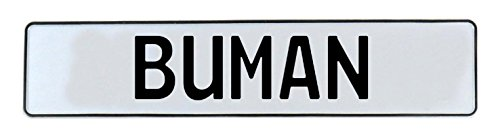 (Vintage Parts 592414 Buman White Stamped Aluminum Street Sign)