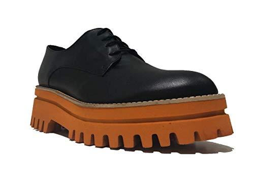 BARCELO' Caucho Cordones PALOMA para Mujer Zapatos Negro de de fXdUwxZnUq