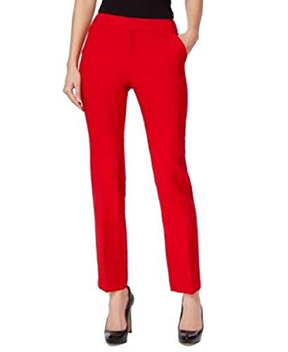 (I.N.C. International Concepts Women's Petite Straight-Leg Pants (Real Red, 2P))