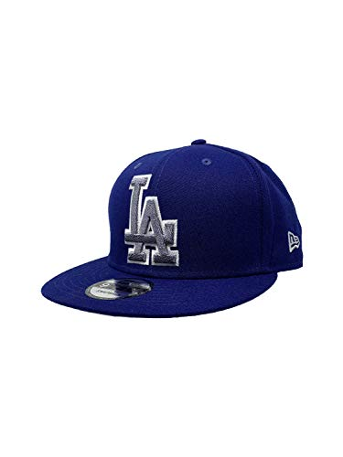 New Era Los Angeles Dodgers Adjustable 9Fifty MLB Straight Brim Baseball Cap 950 (One Size, Blue Squad Twist)