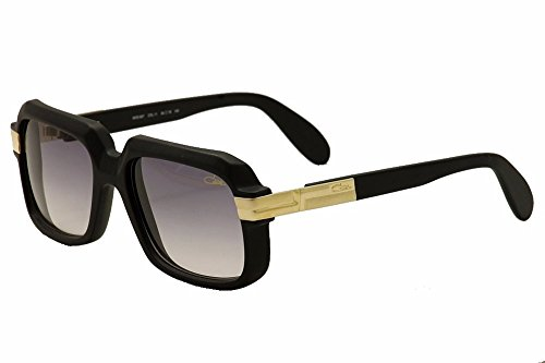Cazal 607 Sunglasses 011 Matte Black Gold/Grey Gradient Lens 56 - For Cazal Men
