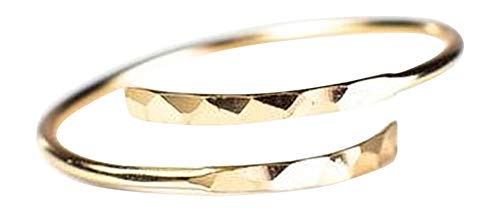 - Blush and Bar Minimalist Thumb Ring (Gold)