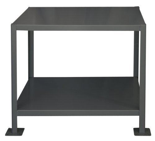 "Durham Steel Heavy Duty Machine Table, MT364836-3K295,  2 Shelves,  3000 lbs Capacity,  48"" Length x 36"" Width x 36"" Height"