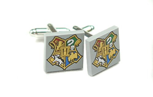 LEGO Harry Potter Hogwarts Crest Silver Plated Cuff Links Jewelry