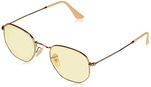 Ray-Ban RB3548N Hexagonal Evolve Photochromic Flat Lenses Sunglasses, Copper/Yellow Photochromic, 51 ()