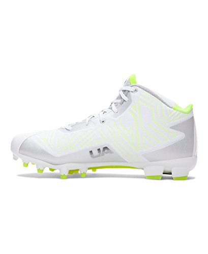 Men's Banshee Lacrosse UA Mid Under Cleats MC Armour White Sq5nxg
