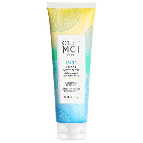 C'est Moi Gentle Foaming Cleansing Gel | Fragrance-Free Gel Cleanser made with Organic Aloe, Calendula and Strawberry, Kiwi, Apple Extracts, Gentle, Nourishing, Clearing, Balancing, 4 fl oz.